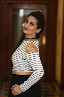 Manjusha in sleevelss crop top and black skirt at Darshakudu pre release ~  Exclusive Celebrities Galleries 005.JPG