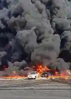 30 سيارة إطفاء و6 خزانات لإخماد حريق طريق الإسماعيلية