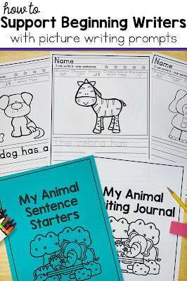 picture writing prompts with animals and sentence starters