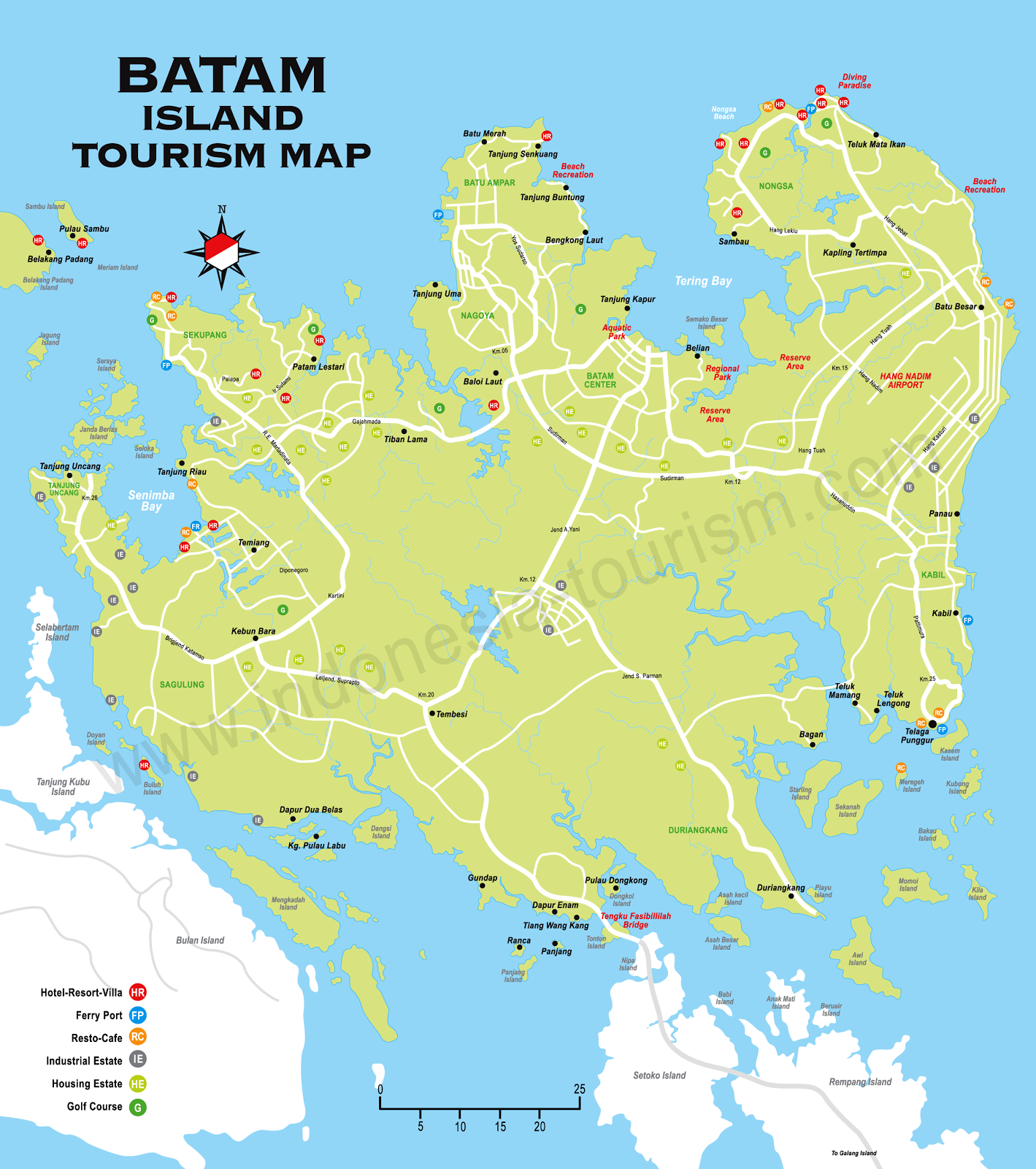 Indonesia Batam Island Map