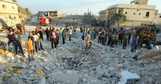 Belasan Warga Suriah Tewas Dalam Serangan Jet Tempur Komunis Rusia