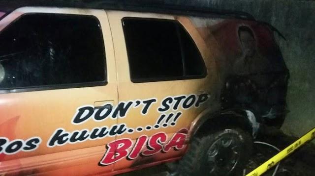 Gawat,Mobil Branding Calon Bupati Jeneponto, Diduga Dibakar Orang