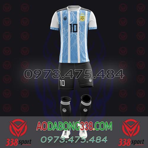 May Áo Đá Bóng Theo Yêu Cầu Mã Argentina-04