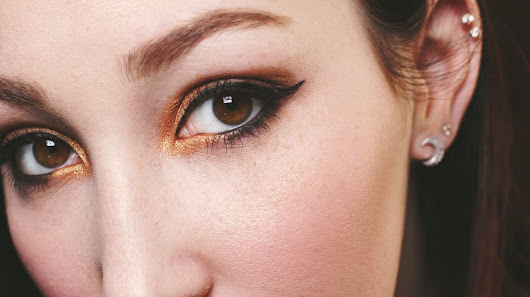 QUICK and EASY Gold Smokey Eye!