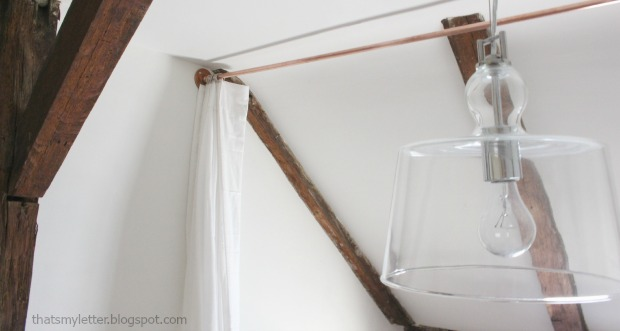 privacy curtain clear glass ceiling fixture barn beams