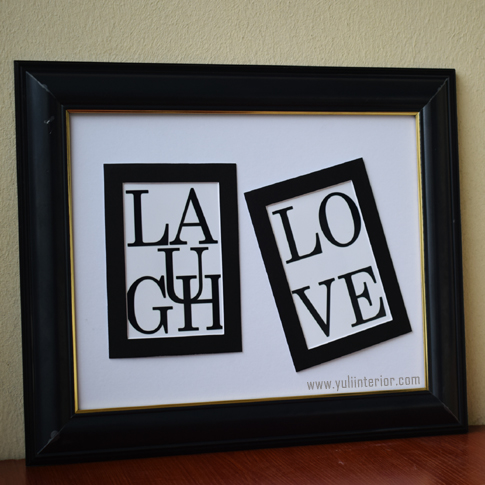 Laugh, Love Wall Frame, Framed Print in Port Harcourt, Nigeria