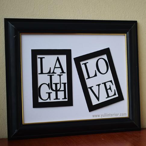 Laugh, Love Wall Frame