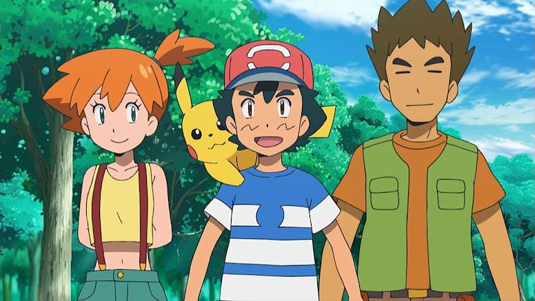 Ash Misty e Brock em Alola