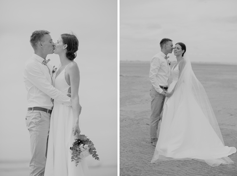 intimate wedding couple portrait