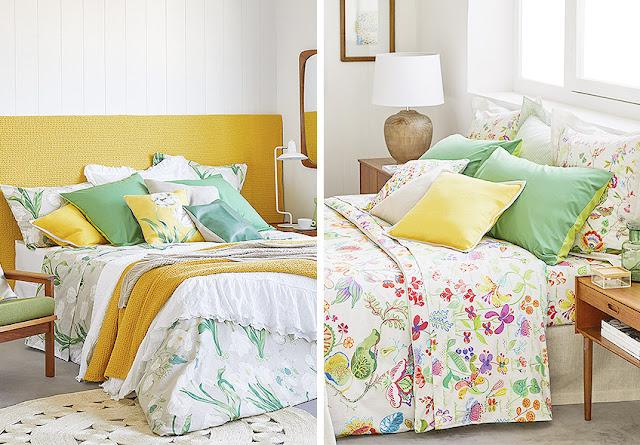 sábanas de flores