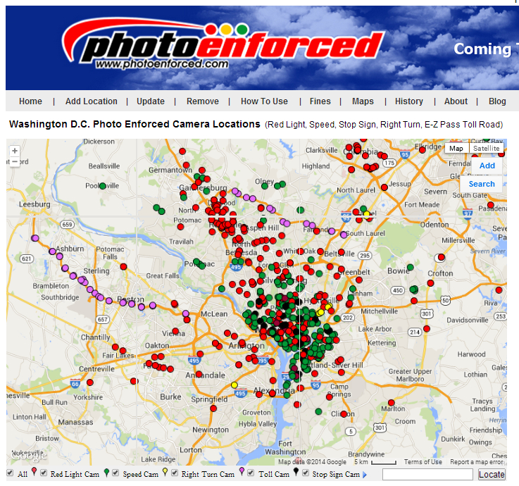 Chicago Red Light Camera Map Washington DC Wins the Photo Enforcement 2014 Award Surpassing Chicago