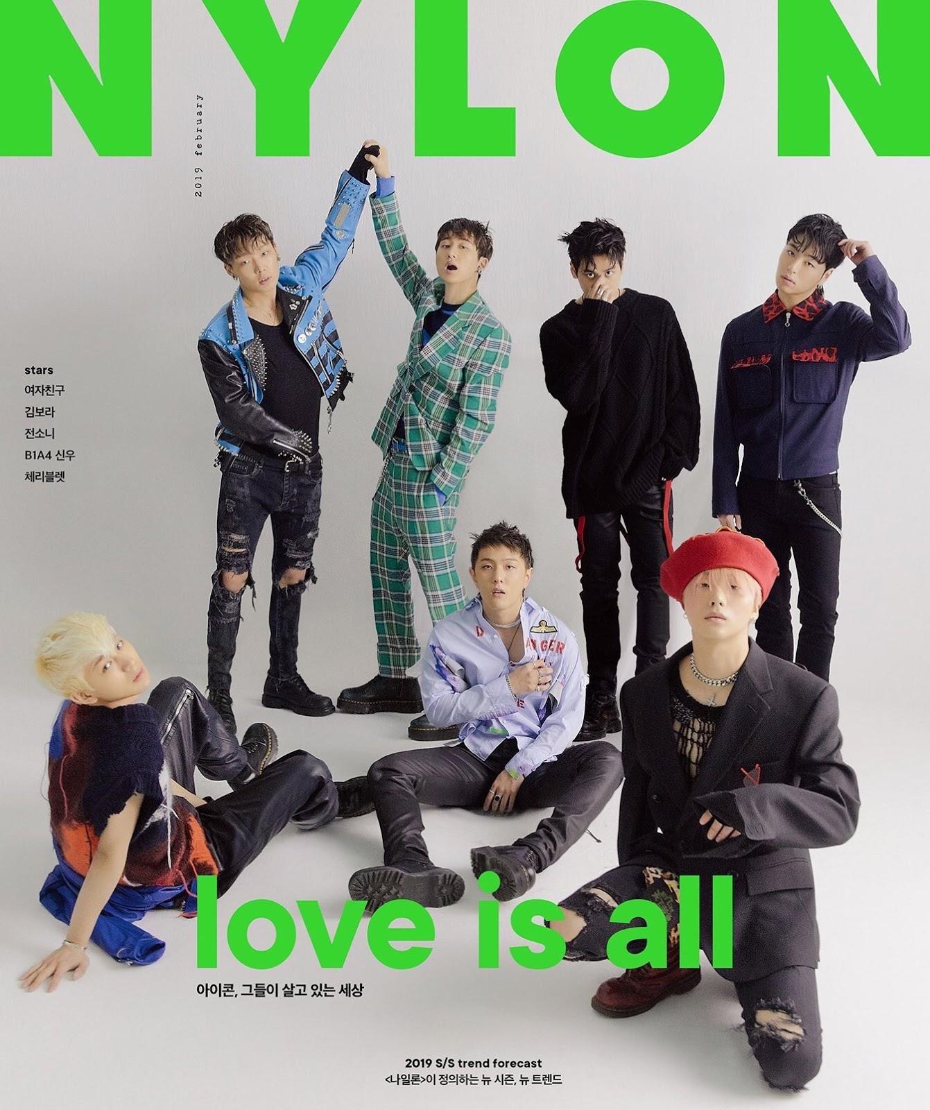 La banda de K-POP IKON para NYLON Magazine Korea
