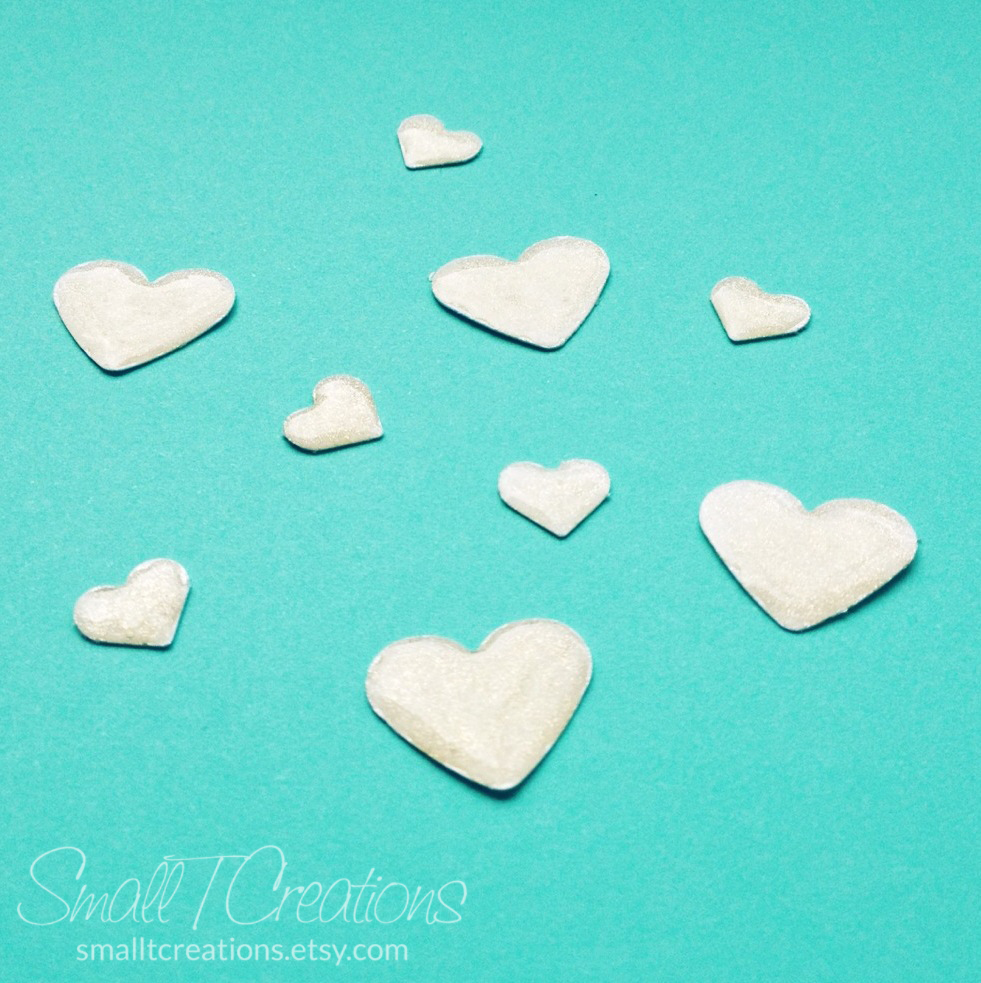 DIY Glitter Enamel Hearts Tutorial | Small T Creations
