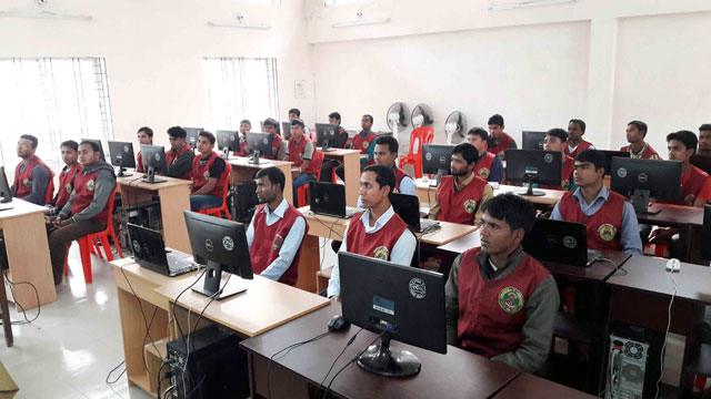Inauguration of computer training course of Ansar and VDP in Kurigram
