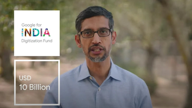 Google to invest  $10 Billion dollar for digitization in India