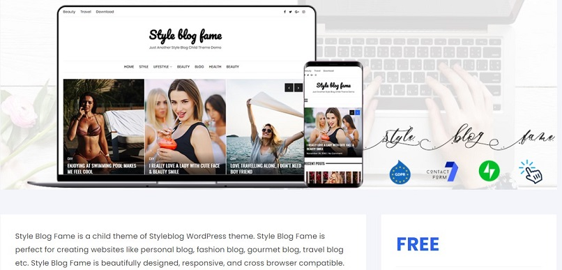 style blog fame theme for affiliate marketing