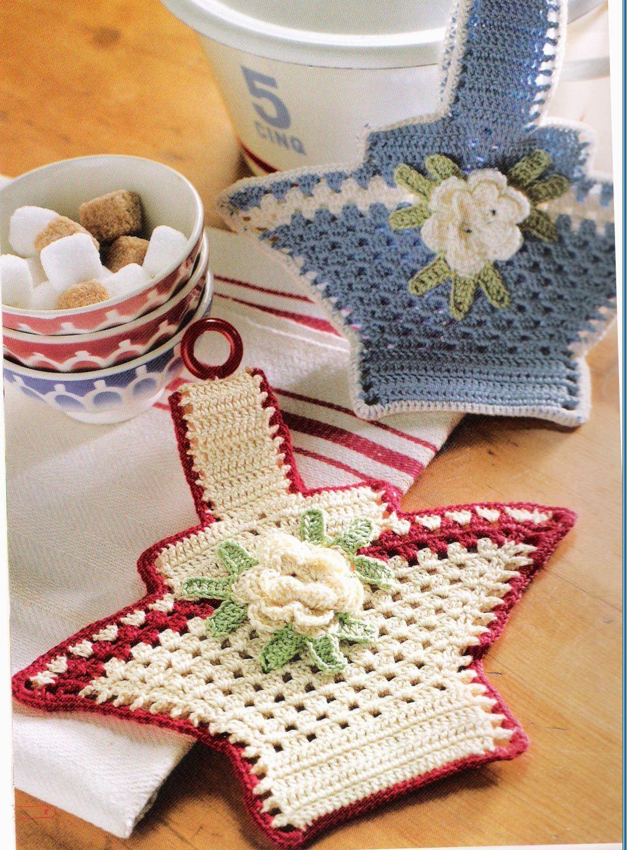 Cesta Agarrador de Crochet