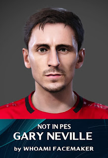 PES 2020 Faces Gary Neville by WhoamI