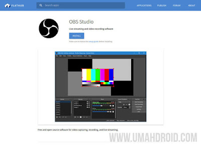 Install OBS Studio di Linux via Flatpak