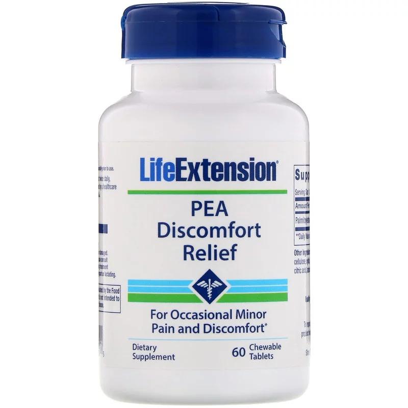 Life Extension, ПЭА для облегчения дискомфорта, 60 жевательных таблеток