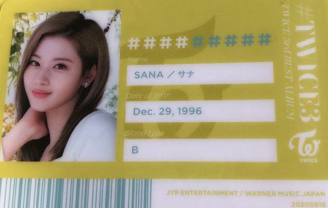 TWICE 3 Sana ID
