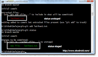git add command prompt windows