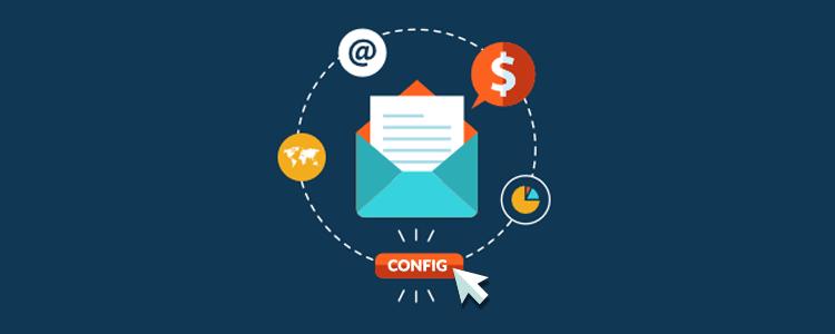 Configure seu email no CEDRUS sistema de cobrança