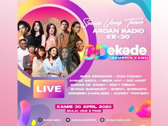 Ultah ke-30, Ardan FM dan Para Musisi Ajak Insan Muda Berdonasi untuk Korban Terdampak Covid-19