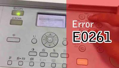 Mengatasi error E000261-0000 mesin fotocopy Canon IR