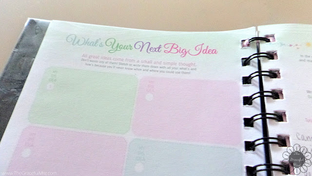2016 Belle De Jour Power Planner: What`s Your Next Big Idea? Page Picture (Review at http://www.TheGracefulMist.com/)