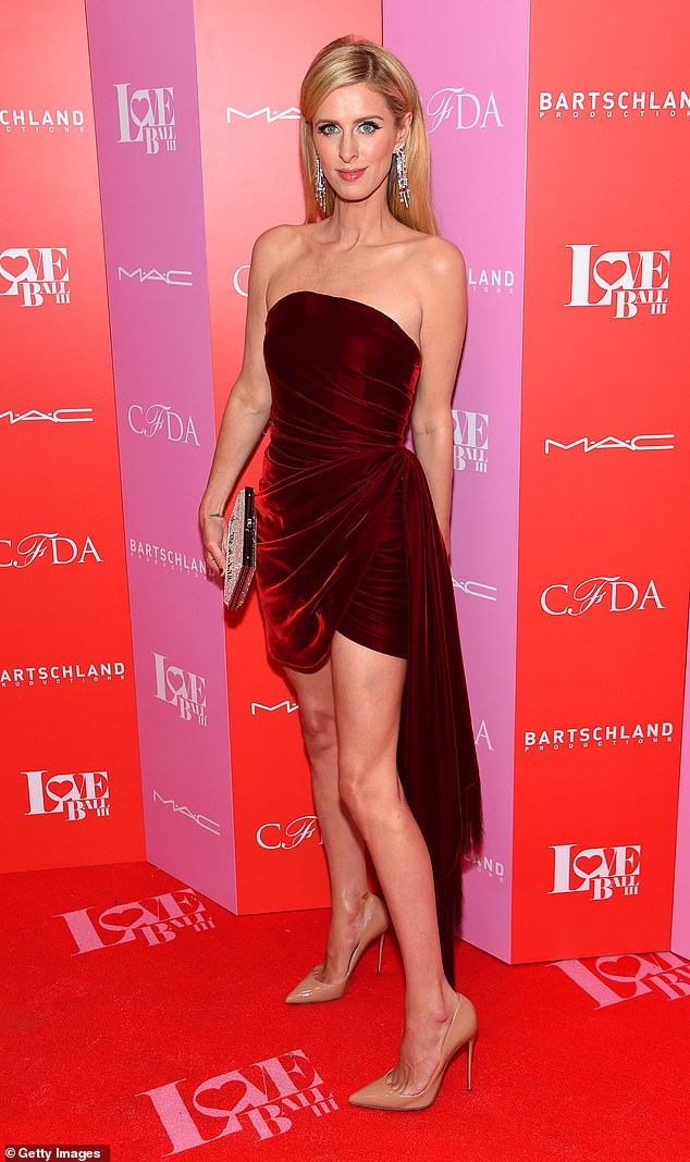 Nicky Hilton wears strapless dress for the Love Ball III in NYC