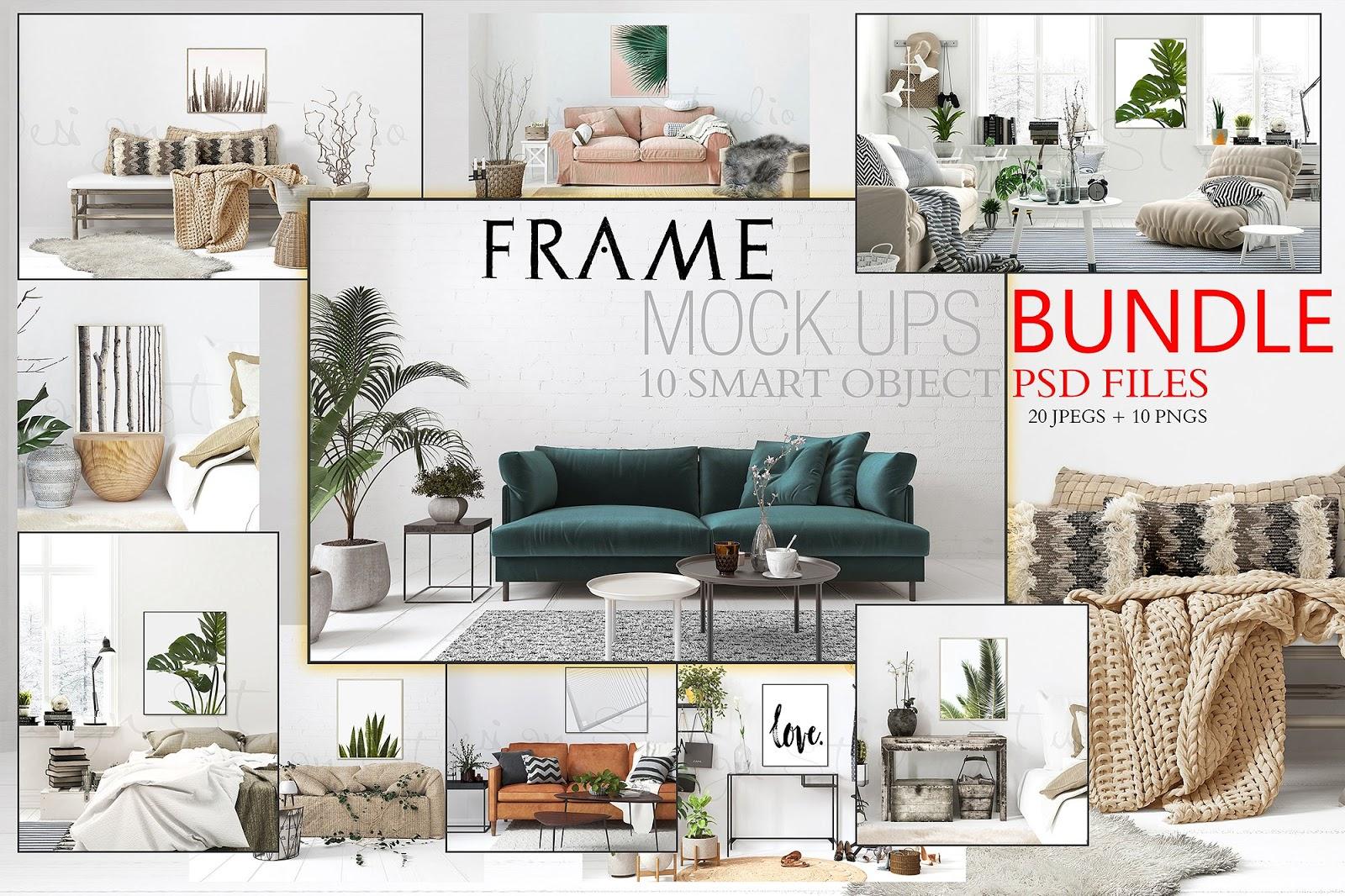 10 Indoor Frame Mockups