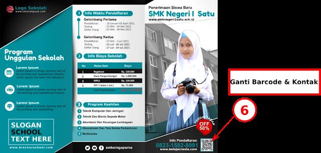 File File : Contoh Desain Brosur Penerimaan Siswa baru SMK Gratis