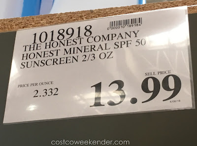 Deal for the The Honest Company Honest Mineral Sunscreen (SPF 50) at Costco