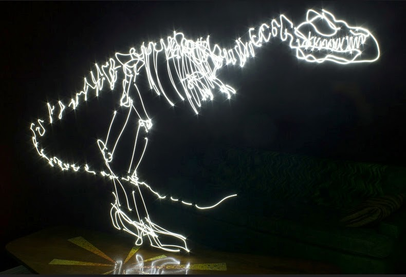 11-T-Rex-Darren-Pearson-Dinosaurs-Palaeontology-Skeletons-and-Angels-in-Light-Paintings-www-designstack-co