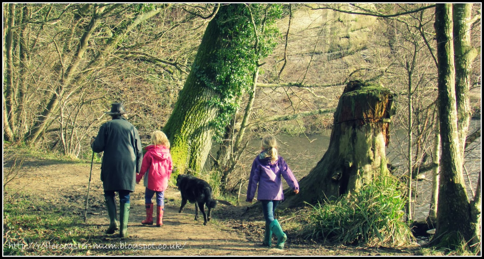 walking the dog with Grandma, Woodland Trust