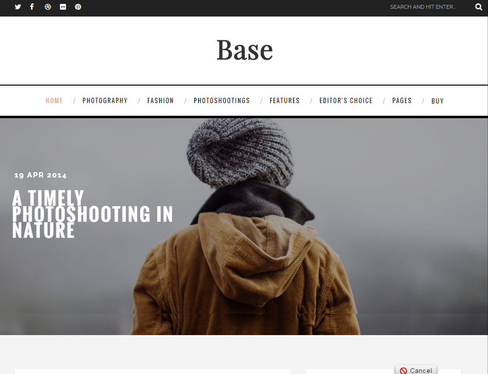 Base Free Template Blogger