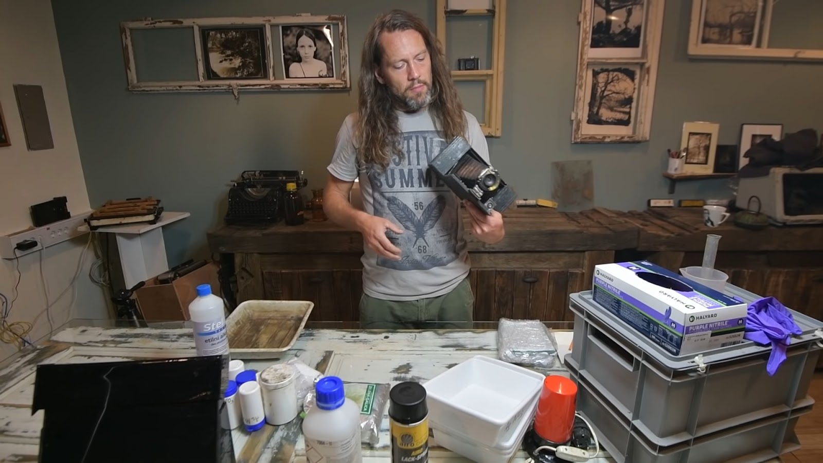 Wet Plate Collodion Process on a budget (300 EUR camera and chemistry included)