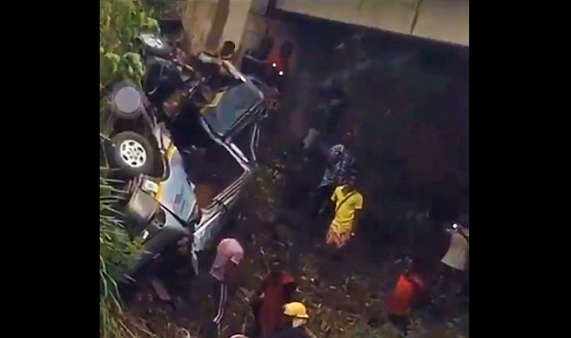 Eight young football players died after a bus fell into a river