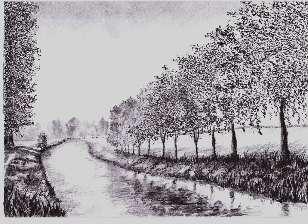 Scenery Pictures Pencil Drawing Bestpicture1org