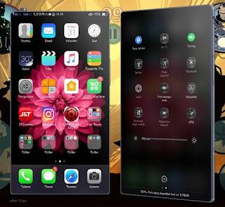 Tema iOS Kombinasi Oppo F1s dan Oppo A37 (OS Lollipop)