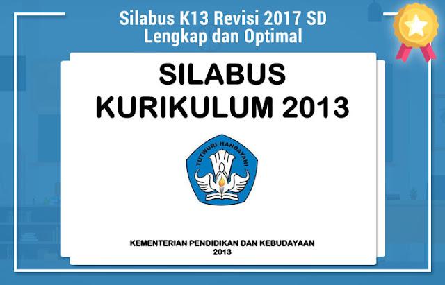 Silabus K13 Revisi 2017 SD Lengkap dan Optimal