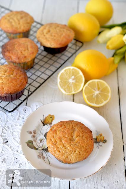 easy mix and bake fuss free lemon honey yogurt muffins no cane sugar less sugar sweet