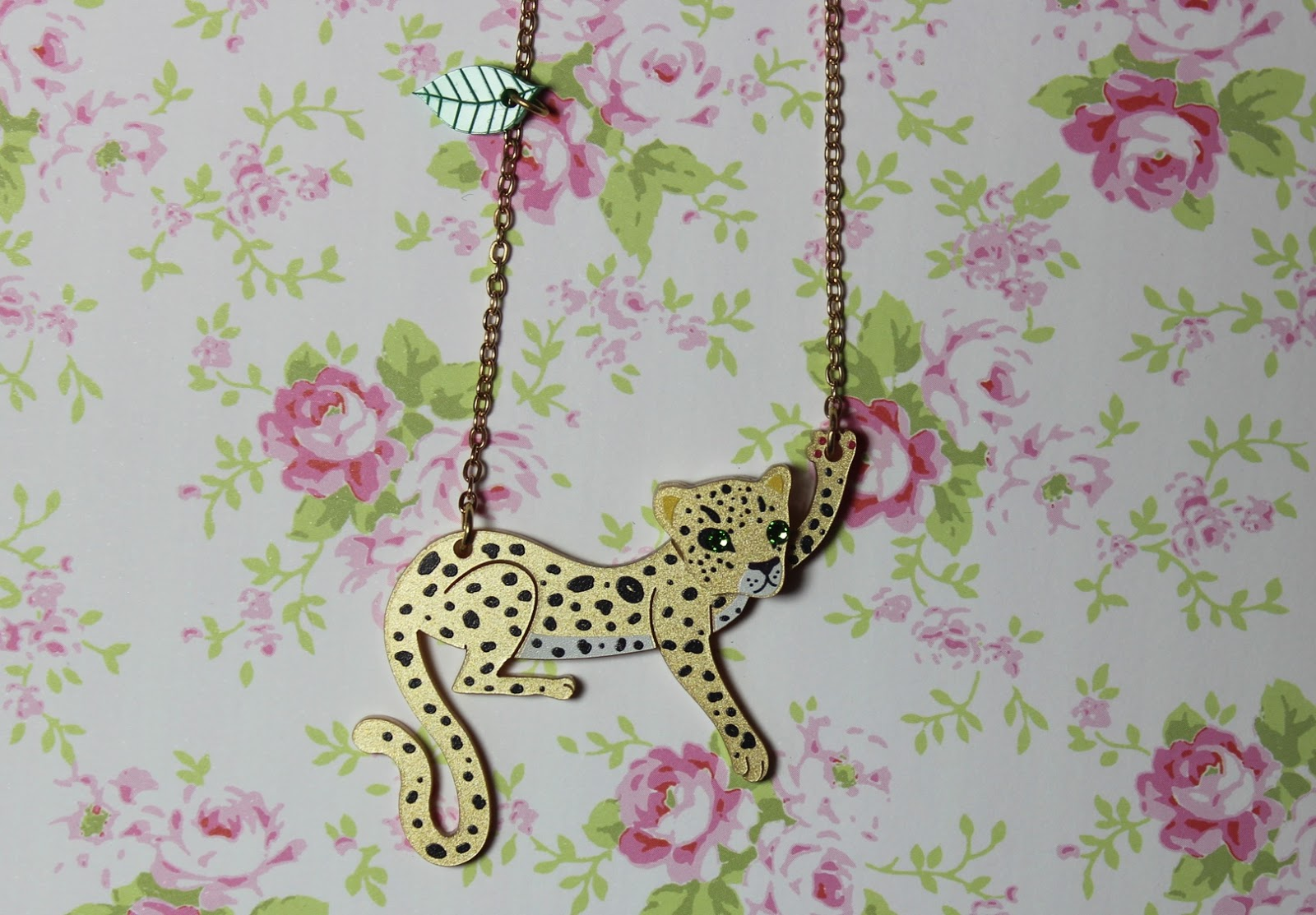 little moose leopard pendant necklace