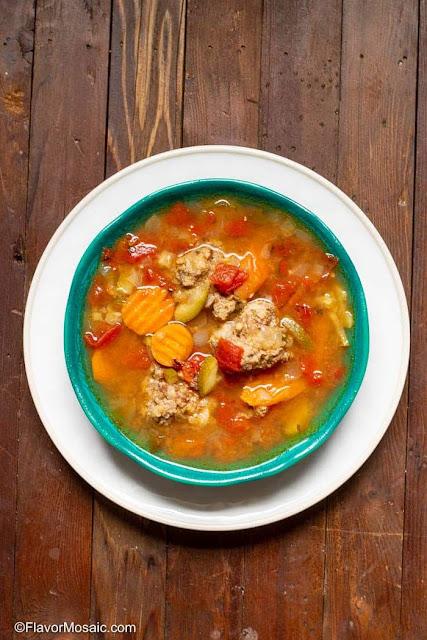 Albondigas Soup (Mexican Meatball Soup) | Flavor Mosaic