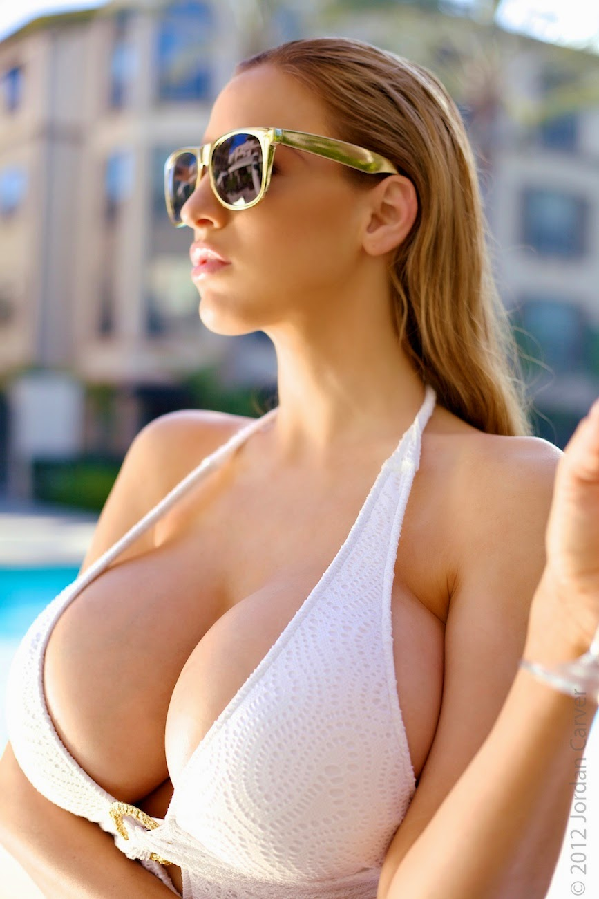 Jordan Carver Gorgeous Hot In White Lingerie Big Boobs -4131