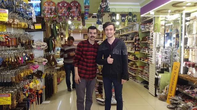Harun İstenci Öz Kastamonu TV'nin kurucusu Muhammet Ali Sağlar ile birlikte...