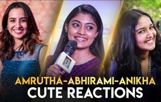 AMRUTHA, ABHIRAMI, ANIKHA CUTE REACTIONS | BLACKSHEEP DIGITAL AWARDS | BLACKSHEEP