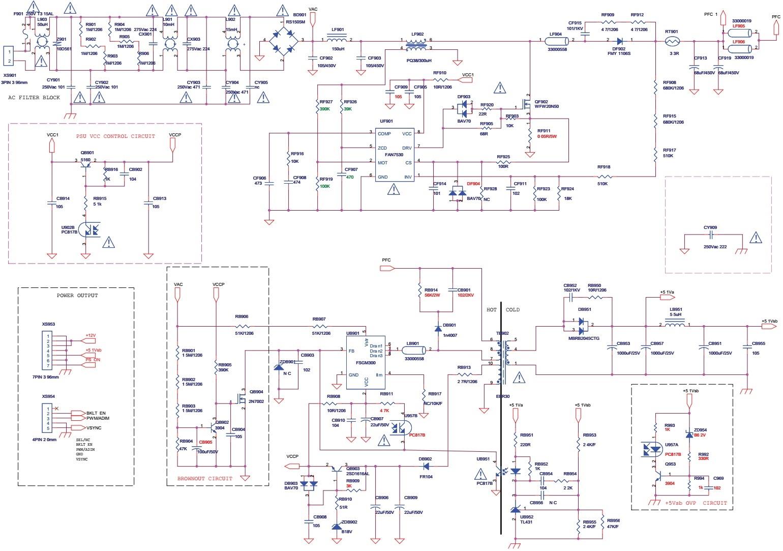 Konka and Thomson KIP L145E06C2-01 - KIP L140E06C2 01 - SMPS ...