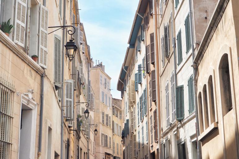 Les rues du vieux quartier du Panier de Marseille